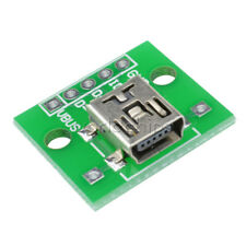 2/5/10PCS Mini USB to  Adapter Converter for 2.54mm PCB Board DIY Power Supply