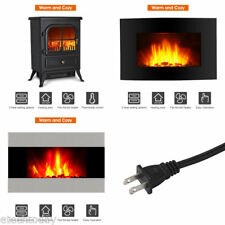 1500W Electric Fireplace Portable Stove Heater Flame Wall Mounted Stand Remote