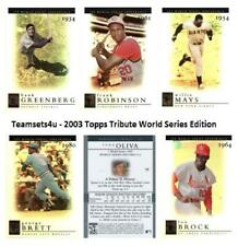 2003 Topps Tribute World Series Edition Baseball Set ** Pick Your Team **