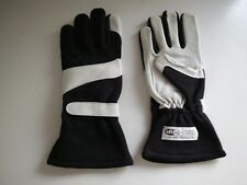 SFI SPEC 3.3/5 White Goatskin Leather with Black Nomex Car/Auto Racing Gloves