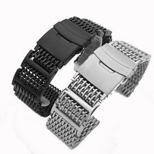 Top Quality Stainless Steel Shark Mesh Strap Watch Band Silver 20mm 22mm 24mm