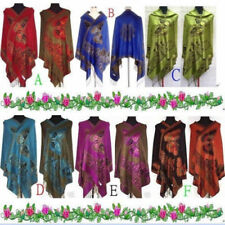 Chinese Lady Women Pashmina/Silk Shawl/Scarf Wrap With Butterfly Multi-Color Hot