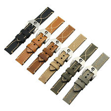 For PANERAI Watch Band Strap THICK Genuine Leather Skull Buckle 20 22 24 26mm