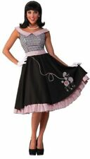 Vintage Retro 50's Poodle Skirt DRESS Grease Women's Adult Costume Checkered