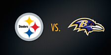 2 Pittsburgh Steelers vs Baltimore Ravens Tickets with Parking Pass