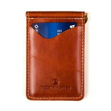 Made in Mayhem Mens Leather Money Clip Slim Wallet - Made in USA