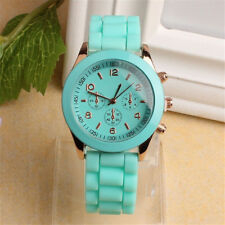 Unisex Wrist Watch Silicone Rubber Jelly Gel Quartz Analog Sports Women Gift New