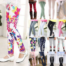 Kids Girls Winter Warm Thick Fleece Leggings Soft Trousers Stretch Pants Skinny