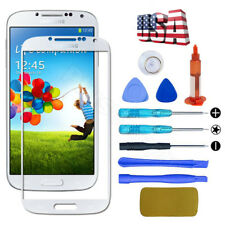 White Front Screen Glass Lens Replacement Tools + UV Glue for Samsung Galaxy S4