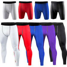 New Mens Fitness Football Basketball Under Compression Pants Base Layers Tights