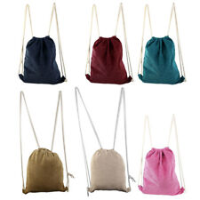 Picnic Travel Storage Pouch School Sport Tote Bag String Drawstring Backpack