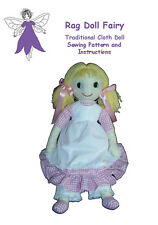 RAG DOLL sewing patterns EASY INSTRUCTIONS, choose a design and make your doll