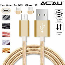 ACALI 2 in 1 Dual Side IOS/Micro USB Adapter Charger Charging Cable For Samsung
