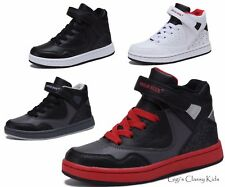 New Boys Girls High Top Sneakers Kids Tennis Shoes Basketball Youth Athletic