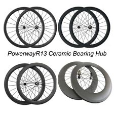 24/38/50/60/88mm Deep Clincher Road Bike Bicycling Carbon Wheels Ceramic Bearing