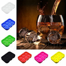 Silicon Whiskey Ice Cube Ball Maker Mold Sphere Mould Brick Party Tray Round 56