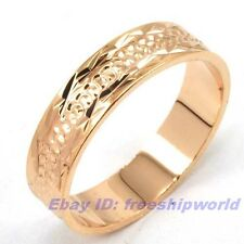 Size 7,8,9,10 Ring,REAL LUXURIANT 18K ROSE GOLD GP EMPAISTIC SOLID FILL 4846r