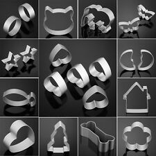 12 Style Aluminum Alloy Cookie Cutter Set Biscuit Cookies Pastry Cake Mold Mould