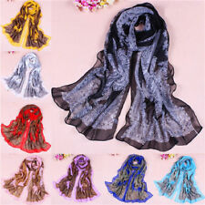 Bohemia Women Lady Pretty Long Soft Chiffon Scarf Wrap Shawl Stole Scarves Newz