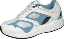 Flare - Drew Shoe - Diabetic Shoes - White Blue - Leather - Extra Depth