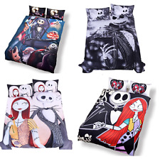 Bedding Set Nightmare Before Christmas Cool Printed Bed Linen Soft Duvet Cover