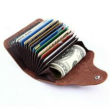 Small Wallet Men Genuine Leather Purse Card Coin Holder Mini Clutch Womens Pouch