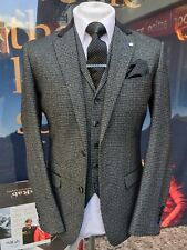 MENS GREY MICRO CHECK 3 PIECE SUIT - MIX & MATCH TROUSERS