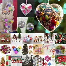 Plastic Hanging Ball Clear Baubles Xmas Party Home Christmas Ornament Decoration
