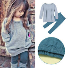 Pullover T-shirt Tops Long-sleeved sweater Pants Set Kids Baby Girls