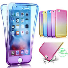 Ultra thin Fashion Clear Soft TPU Gradient Color Protect Phone Case For iphone 8