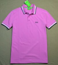 NWT MENS HUGO BOSS PINK PADDY 10 SHORT SLEEVE RUGBY POLO CASUAL SHIRT SZ M, XL