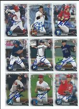 2016 BOWMAN DRAFT RC SIGNED AUTO 36 CARD LOT MONIAK PINT ANDERSON RAY GARRETT