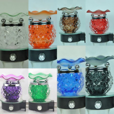 Crystal Plug In Diffuser Tart Oil Warmer Wall Outlet Night Light Assorted Colors