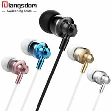Volume Control Earphones for Phone Headset with Microphone Metal Bass Earbuds