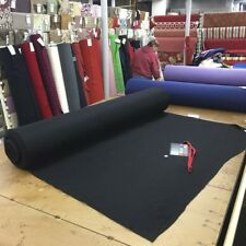 Black Wool Fabric Jet Black Coating Weight Wool Fabric 60 By the Yard