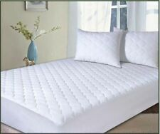 NEW Supersoft Luxurious PERCALE QUILTED MATTRESS PROTECTORS & PILLOW PROTECTORS