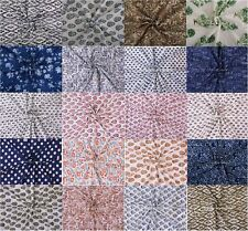 10 Yard Indian Block Print Upholstery Fabric Cotton Voile Dress Making Fabric
