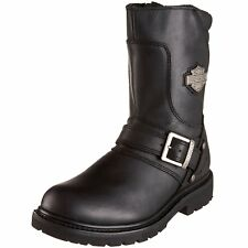 NEW Mens HARLEY-DAVIDSON Black Leather BOOKER Engineer Motorcycle Boots Shoes