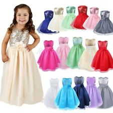 Flower Girls Toddler Baby Sleeveless Princess Sequins Party Wedding Formal Dress