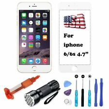 Replacement Front Touch Screen Lens Repair Glass For White iPhone 6 6S Tools Kit