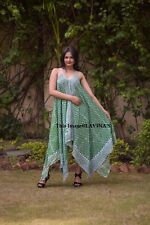Indian Cotton Women Sexy Maxi Dress Summer Beach Tunic Fashionable Kurti Hippie