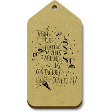'Positive Vibes Confetti' Gift / Luggage Tags (Pack of 10) (vTG0014849)