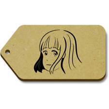 'Shy Manga Girl' Gift / Luggage Tags (Pack of 10) (vTG0016399)