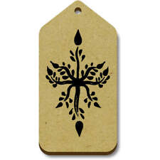 'Floral Star Pattern' Gift / Luggage Tags (Pack of 10) (vTG0015660)