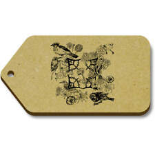 'Floral Bird Motif' Gift / Luggage Tags (Pack of 10) (vTG0014656)