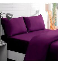 BRAND NEW US BEDDING COLLECTION ITEMS - 1000 TC 100%EGYPTIAN COTTON PURPLE SOLID