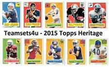 2015 Topps Heritage Football Set ** Pick Your Team **