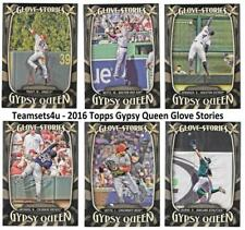 2016 Topps Gypsy Queen Glove Stories Baseball Set ** Pick Your Team **