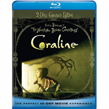Coraline (Blu-ray / DVD, 2009, 2-Disc Set, Collector's Edition) Free Shipping!!