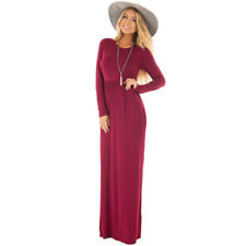 Spring Fall European Women's Pleated Evening Party Cocktail Maxi Tunic Dresses